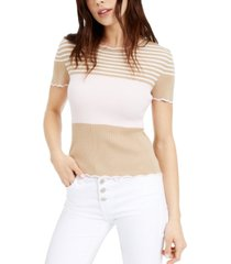 maison jules london printed scalloped top, created for macy's