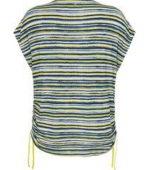shirt met ronde hals en streepprint van frapp multicolour