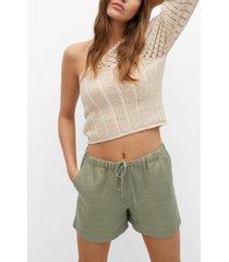 mango women's linen shorts