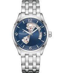 hamilton jazzmaster gent open heart automatic bracelet watch, 42mm