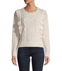 ruffled textured sweater