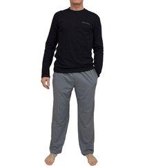 calvin klein pyjama ck zwart-grijs