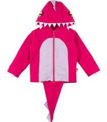 casaco moletom infantil taioca dinossauro feminino