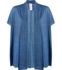 wolford taylor draped cardigan - blue