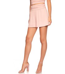 susana monaco gather shorts, size small in pink sand at nordstrom