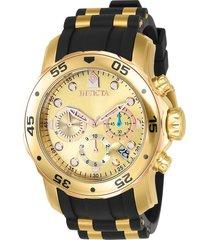 reloj invicta negro modelo 178ik para hombre, colección pro diver