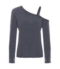 camiseta feminina analia - cinza