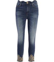 denim skinny con lavaggio jeans