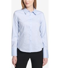 calvin klein button-up cotton shirt
