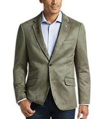 tailorbyrd olive slim fit microsuede sport coat