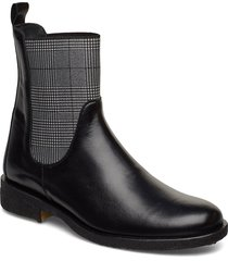 7317 shoes boots ankle boots ankle boots flat heel svart angulus