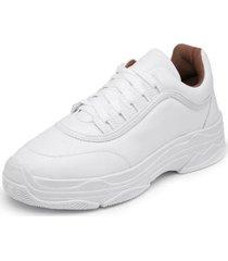 sapatenis top franca shoes sola alta feminino - feminino