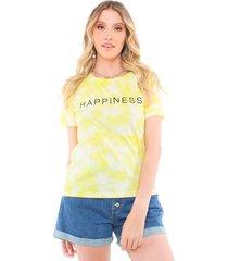blusa t-shirt tie dye happiness pop me