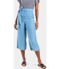 jaelyn cropped palazzo pants - chambray
