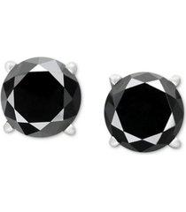 black diamond stud earrings in 14k white gold (1-1/2 ct. t.w.)