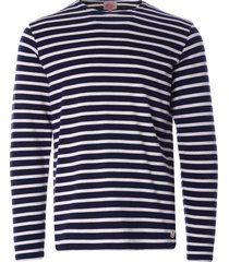 armor lux organic cotton l/s mariniere heritage t-shirt | navy/natural | 78654-429