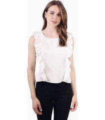 blusa juanita sin mangas blanca jacinta tienda