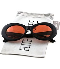 bold retro oval mod thick frame sunglasses clout goggles with round lens