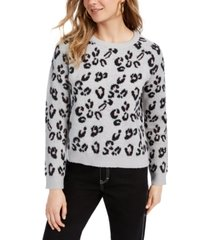 planet gold juniors' animal-print sweater