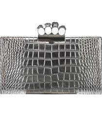 skull four ring clutch