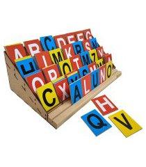 alfabeto móvel degrau jottplay com 84 letras colorido