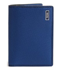 tumi monaco folding leather card case - blue