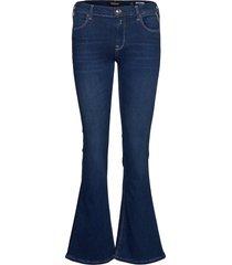shorts jeans utsvängda blå replay