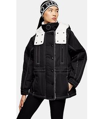 *black borg ski jacket by topshop sno - black