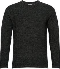 lamp o-neck knit stickad tröja m. rund krage grå gabba