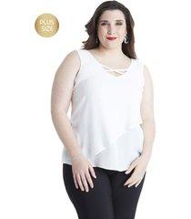 blusa aplicación espalda blanco lorenzo di pontti