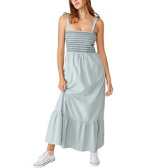 cotton on woven shae shirred maxi dress