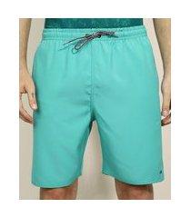 bermuda masculina esportiva ace com bolsos verde água