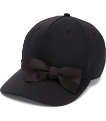 dsquared2 bow detail baseball cap - black