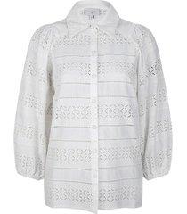 ajour blouse laureene  wit