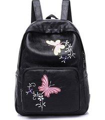 mochilas/ bordado mariposa mochila mujeres mochila-rojo