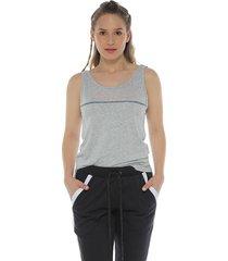 camiseta tiras espalda, color gris jasped para mujer