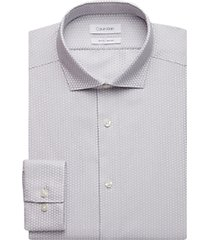 calvin klein gray circles slim fit dress shirt