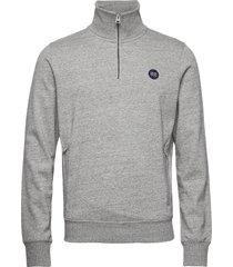 collective half zip track sweat-shirt trui grijs superdry