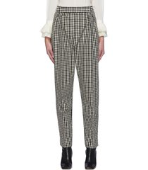 'magdeline' gingham print box pleat pants