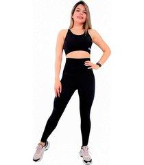 conjunto leggings reductor cintura alta