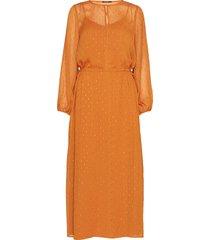 mariah gloria dress maxiklänning festklänning orange bruuns bazaar