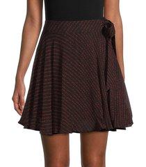 ganni women's dot-print tie mini skirt - black - size 36 (4)