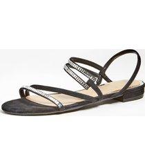 skórzane sandały na płaskiej podeszwie model ravena