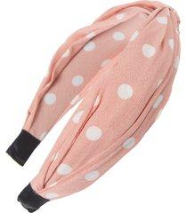 tasha polka dot headband, size one size - pink