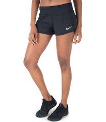 shorts nike crew 2 - feminino - preto