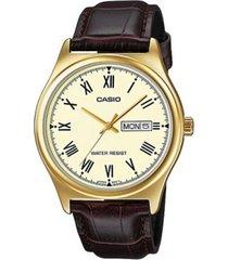 reloj casio mtp-v006gl9b de hombre-chocolate