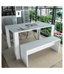 banco para mesa de jantar appunto liv branco