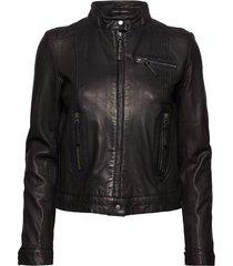 karla leather jacket läderjacka skinnjacka svart mdk / munderingskompagniet