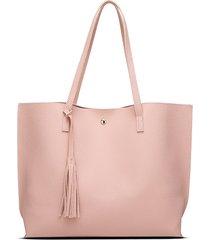 tracolla per borsa tote color caramello di colore puro capacità borsa per le donne