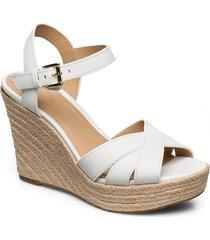 suzette wedge sandalette med klack espadrilles vit michael kors shoes